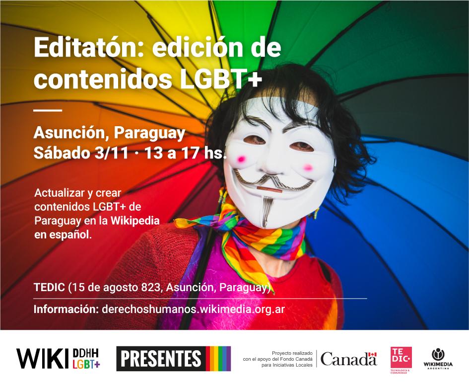 Editatón WikiDDHH LGBT+